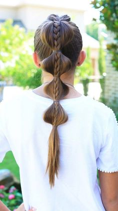 Cool and Easy DIY Hairstyles - Stacked Bubble Braid - Quick and Easy Ideas for Back to School Styles for Medium, Short and Long Hair - Fun Tips and Best Step by Step Tutorials for Teens, Prom, Wedding (Cool Easy Hairstyles) Cool Easy Hairstyles, Cute Girls Hairstyles, Older Women Hairstyles, Feathered Hairstyles, Hairstyles With Bangs, Cute Hairstyles, Braided Hairstyles, Brunette Hairstyles, Classic Hairstyles