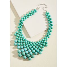 Just Simply Adorn You Necklace ($35) ❤ liked on Polyvore featuring jewelry, necklaces, accessories, varies, green turquoise jewelry, blue turquoise jewelry, green turquoise necklace, turquoise bead necklace and beaded jewelry