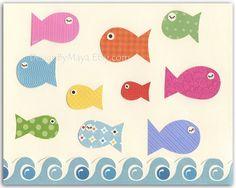 Baby room print Nursery wall art Kids Roomsea by DesignByMaya, $17.00