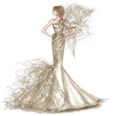 """Every moment is a golden one for him who has the vision to recognise it as such."" ~ Henry Miller ~ Fabulous artwork by 💫✨👑✨💫 . Illustration Mode, Fashion Illustration Sketches, Fashion Sketches, White Homecoming Dresses, Mermaid Prom Dresses Lace, Prom Gowns, Dress Lace, Ball Gowns, White Dress"