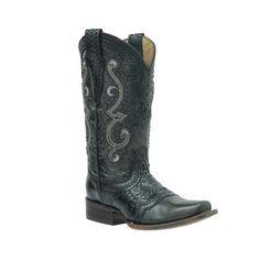 Cuadra Women's Black Rodeo Western Boots