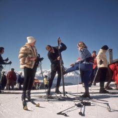 Skiers at Verbier, 1964. Photo by Slim Aarons.