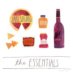 Brent, 42 Jarlsburg cheese dijon mustard chips salsa Trader Joe's Sea Salt & Turbinado Sugar Dark Chocolate Almonds Attractively priced, non-rotgut red wine Additional notes:What's top of mind to replace any time I'm buying because if they're not around, all is not right.