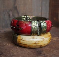 Vintage Bohemian Tribal Bangle Bracelet PinClosure by goodngussy, $112.00