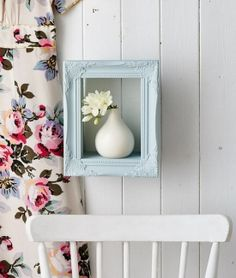 Turn a picture frame into a handy shelf