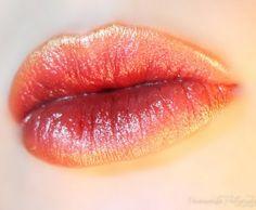 Golden Peach Ombre Lips lipstick permiasorella glossy gloss gold full big classy editorial makeup cosmetics burgundy autumn fall fashion