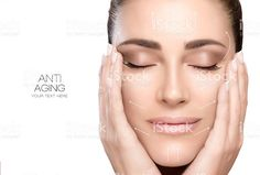 Surgery and Anti Aging Concept. Beauty Face Spa Woman royalty-free stock photo