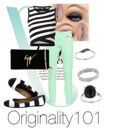 Originality101| Stripe's love by originality101 on Polyvore featuring polyvore, fashion, style, DKNY, French Connection, Kate Spade, Giuseppe Zanotti, Miss Selfridge and Castello