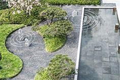 Landscape Plane, Landscape Walls, Urban Landscape, Landscape Design Plans, Landscape Architecture Design, Modern Landscaping, Backyard Landscaping, Zen Garden Design, Japan Garden