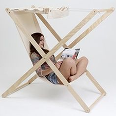 Double X outdoor folding chair by Portuguese designer Tiago Braz Martins.