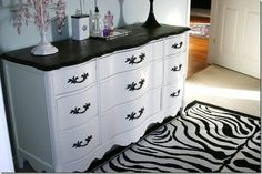 Dresser Makeovers, simple but sharp!  Used this for my bedroom furniture