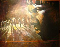 David Wang Indio. Oléo sobre Tela, 100 cm x 120 cm,  série - Brasil