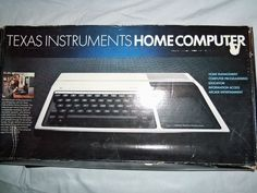 Texas Instruments Home Computer.  My Pop had one of these.  i loved playing games on it