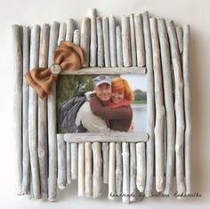 foto frame from dry twigs