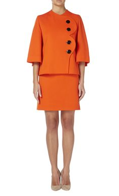 Orange skirt suit by Pierre Cardin, circa 1980 - All Products - William Vintage
