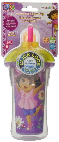 Munchkin Dora the Explorer Click Lock Insulated Straw Cup, 9 Ounce (Colors may vary) Munchkin,http://www.amazon.com/dp/B006V84ML8/ref=cm_sw_r_pi_dp_lNHltb0VK3P6KB2N