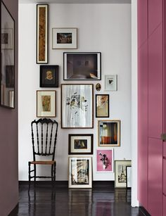 Take your gallery wall all the way to the floor.