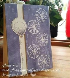 Time to split! No! I'm not talking about divorce! It's  time to split the panels on your card front! :D The old technique that is quite a big trend in card making lately. And I love it! What's yours favourite old technique? #ballooncelebrations #birthdaycard #stampinup #annastampincave #techniques #splitcards #oldisgood