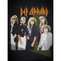 Vintage 1987 Def Leppard Hysteria Tour 80s Rock Band T-shirt... - Polyvore