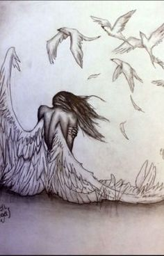 "pencil drawings of angels and demons. >>> Learn even more at the photo link >> Learn even more at the photo link""> pencil drawings of angels and demons. >>> Learn even more a Art Du Croquis, Angel Drawing, Angel Sketch, Deep Drawing, Wings Drawing, Drawing Eyes, Angels And Demons, Beautiful Drawings, Amazing Pencil Drawings"