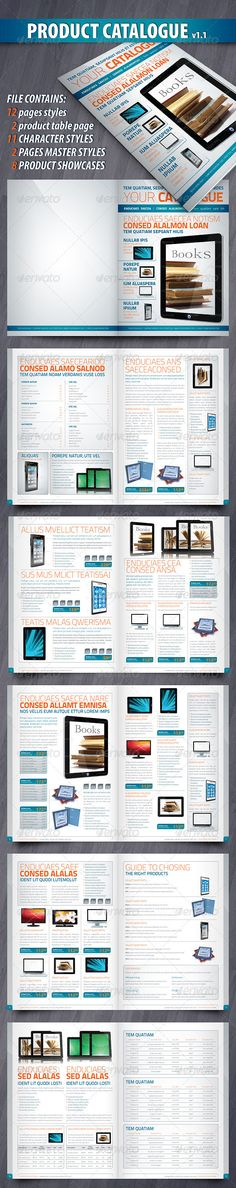 Electronics Products Catalog Brochure - 12 Pages Brochures - product brochures