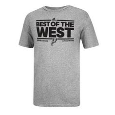 0f5cd454d50 adidas San Antonio Spurs 2013 NBA Western Conference Champions Unexpected  Impact Tee - Men