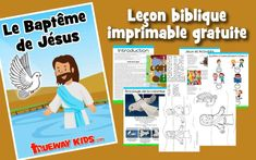 Preschool Bible lesson on the Baptism of Jesus (Matthew Free printable lesson including Bible activities, worksheets, crafts, coloring pages and more. Preschool Bible Lessons, Bible Lessons For Kids, Bible Activities, Preschool Teachers, Jesus Baptised, Jesus Childhood, Jesus Calms The Storm, New Testament Bible, Bible Coloring Pages