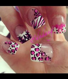 Zebra cheetah and mustache all in 1 nail art pinterest zebra cheetah and mustache all in 1 nail art pinterest cute nails pink and daughters prinsesfo Image collections