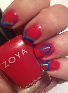 ColorMeSoCrazy: Tri Polish Challenge- May Zoya- Carmen Essie- Butler Please Sinful Colors- Jungle Trail #Duquesne, #Zoya, #Sinful Colors, #Essie, Tri-Color