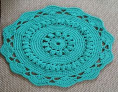 Ажурный коврик из шнура МК 12-14 ряды Crochet Mat, Crochet Mandala, Love Crochet, Crochet Doilies, Crochet Flowers, Wire Weaving, Hand Weaving, Knitting Projects, Crochet Projects