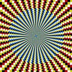 movement illusion in op art Cool Optical Illusions, Art Optical, Illusion Kunst, Illusion Art, Victor Vasarely, Fibonacci Spiral, Magic Eyes, Visionary Art, Psychedelic Art