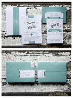 Harding-wedding-invitation, Light Blue Green, Illustrator, Typography Wedding