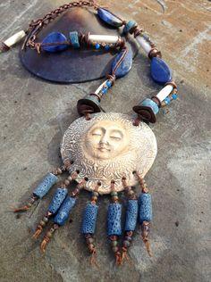 Tranquil Dawn Celestial Necklace Spiritual Necklace par YaYJewelry