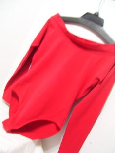 True Red bodysuit by The Limited Ballet scoop neckline - can be worn off shoulder Long Sleeve High cut french leg snap crotch Stretch with spandex  Excellent Find – no flaws or issues to state  Details MARKED A SIZE - Size Large but could go down to a Medium  Bust approx 34 to 36 Waist approx 28 to 30 Hips approx 38 to 40 Total Length approx 29 to end at snaps   Label The Limited Fabric 54% cotton, 28 % poly, 10% spandex Care washable  PLEASE READ DETAILS AND MEASUREMENTS CAREFULLY. (DOUBLE…