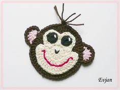 crochet ♥ Lustiger  Affe / Schimpanse ♥ von Evjan auf DaWanda.com
