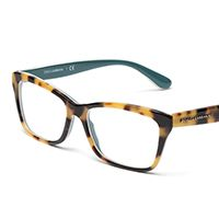 Women's havana and blue eyeglasses with rectangle frame Dolce