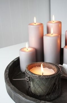 Candles. Cozy. Comforting.