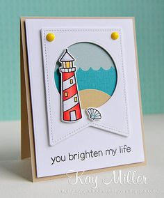 Lawn Fawn - Life is Good + coordinating dies, Stitched Party Banners  _ gorgeous card by Kay via Flickr - Photo Sharing!