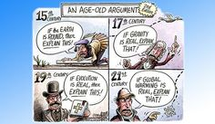 Funny pictures about Age-Old Argument. Oh, and cool pics about Age-Old Argument. Also, Age-Old Argument photos. Meme Comics, Comics Und Cartoons, Political Cartoons, Science Cartoons, Political Comedy, Trump Cartoons, Funny Science, Political Art, Science Fun