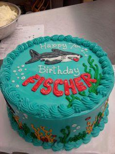 Shark Attack Birthday Cake   Flickr - Photo Sharing!