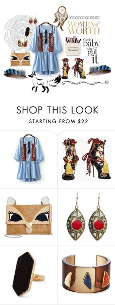 """""""Women of Worth"""" by marquita-jaja-davis ❤ liked on Polyvore featuring Dsquared2, Betsey Johnson, Urbiana, Jaeger, Lizzie Fortunato, Aztec, tribal and prefall"""