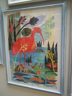 """Ibis"" by Mark Hearld (collage)"