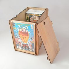 Comic Book Storage and Display Box with Lid