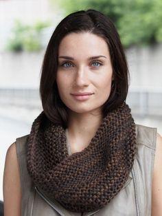 Garter Stitch Cowl | Yarn | Free Knitting Patterns | Crochet Patterns | Yarnspirations