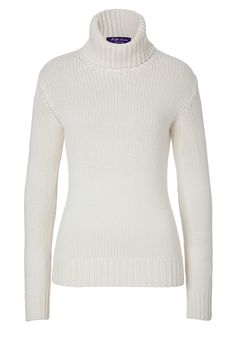 Styled in pristine ivory cashmere, this soft turtleneck from Ralph Lauren Collection is a timeless-classic cool weather favorite #Stylebop