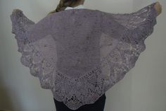 Shawl Irish Knit & Crochet in Bergére Yarn Cotton Lilac with multicoloured fleck by TheCraftyShamrock on Etsy Lilac, Shawl, Irish, Knit Crochet, Great Gifts, Ruffle Blouse, Knitting, Trending Outfits, Unique Jewelry