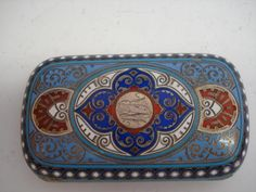 A Russian enamel and silver-gilt presentation cheroot case by Ivan Khlebnikov, assay master Artsybashev, Moscow 1890 Cigarette Case, Silver Enamel, Moscow, Presentation, Auction, Wallet, Antiques, Boxes, Music