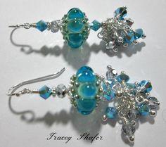 Handmade Lampwork Beads, Vintage Swarovski & Sterling Silver