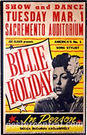 Billie Holiday concert poster  --Great idea for an invitation