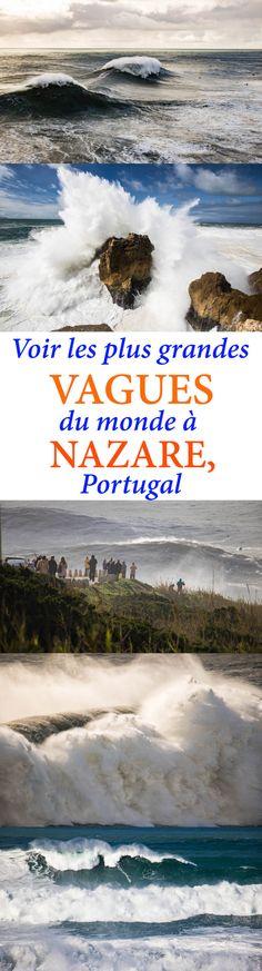 Venez découvrir les plus grosses vagues du monde à Nazaré, Portugal. 30 mètres de puissance !